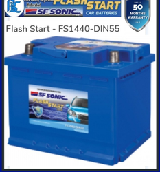 FS1440 DIN 55 SF Sonic Car Battery
