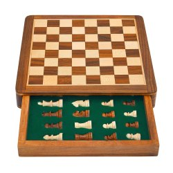 Perfect Gift, Large Wooden Chess Set With , Wooden Magnetic Chess Board