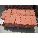 Red Cement Paver Block, Shape: Zigzag