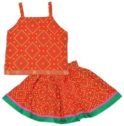 Girls, Baby Girls All Color Cotton Skirt Top Set