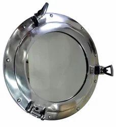 Brass Chrome Finish Nautical Porthole Mirror