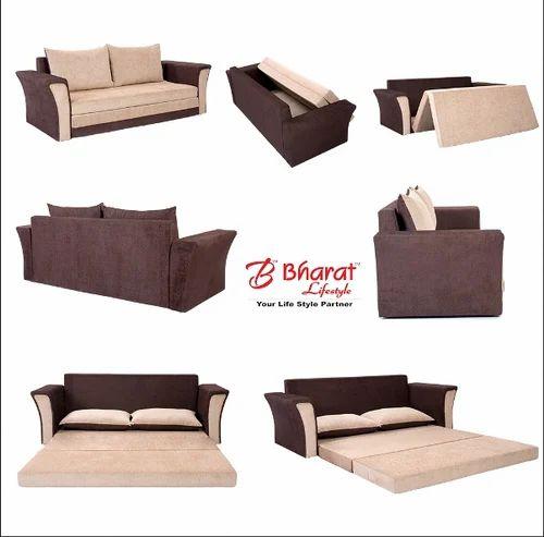 Tremendous Bharat Lifestyle Cream Brown Sofa Cum Bed Machost Co Dining Chair Design Ideas Machostcouk