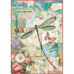 A4 Rice Paper Wonderland Dragonfly DFSA4309