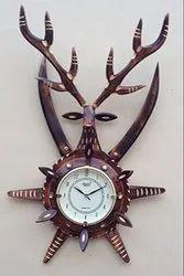 Round Divine Art Wooden Fancy Wall Clocks