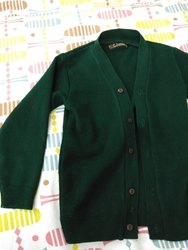 Girls Green School Sweater