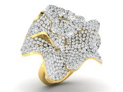 Cocktail Gold Diamond Ring