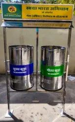 304 Grade Stainless Steel Twin Bin
