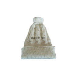 45993a95ab5 Colors Of India White handmade woollen caps