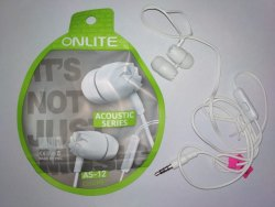 White Wired onlite in ear earphone or headphone