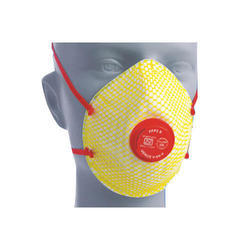 White Cotton Respirator Face Mask With Valve FFP2, For Surgical, Number of Layers: 3 Layers