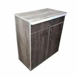 Raj Furnitures Brown Lockable Wooden Storage Cabinet, 2