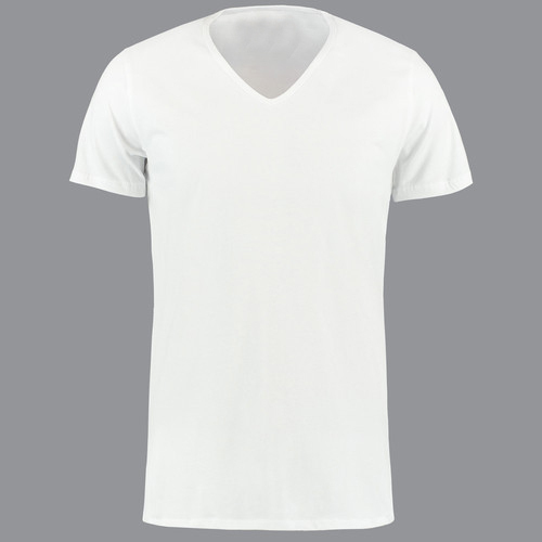 9c76b067854c Mens White Plain V- Neck T-Shirt, Size: S-XL, Rs 120 /piece | ID ...