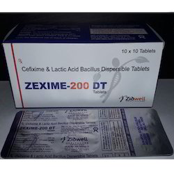 Cefixime and Lactic Acid Bacillus Dispersible Tablets