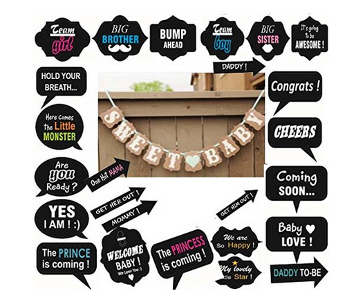 Fancy Steps Baby Shower Party Props Photo Booth 30 Pcs At Rs 349