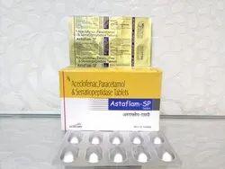 Aceclofenac 100mg Paracetamol 325 mg Serratiopeptidase 15 mg