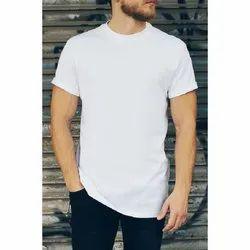 White Plain Mens Half Sleeve T Shirt