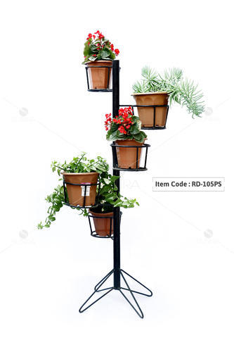 Spiral Planter Stand For 5 Planters