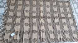 Rectangle Jute Cotton Printed Dhurries