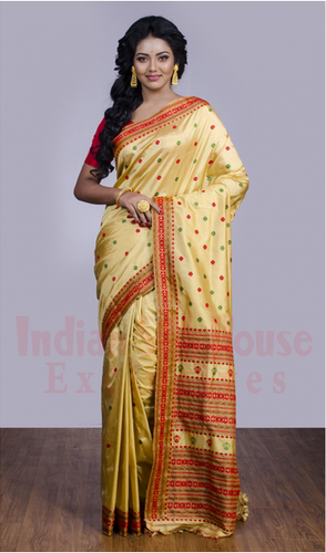 Assam Silk Saree Z24348, 5.5 M (separate Blouse Piece), Rs 9500 /piece    ID: 19487226991