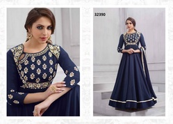 Taffeta Silk Embroidered Anarkali Salwar Kameez