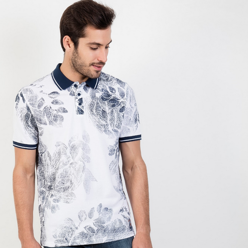 b339cbb9 All Over Floral Print Polo T Shirt, पोलो टी शर्ट ...