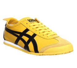 Comfort Foam Leather Asics Tiger Yellow Men's Casual Shoes