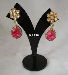 RI High Quality Women American Diamond Earrings