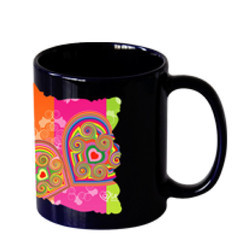 Sublimation Full Black With White Patch Mug