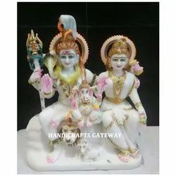 Decorative Indian Marble Shiva Parvati Statue