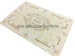 SGE Off White Printed Cotton Rug