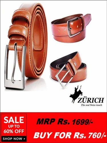 d5b7fcd6ae5e Brown Men'S Designer Belt , Size: Free Size, Rs 760 /piece   ID ...