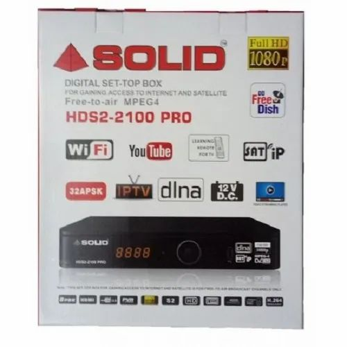SOLID HDS2-2100 Pro Full HD DVB-S2 Set-Top Box With Streaming, DLNA And  SATIP