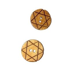 Brown Wooden Designer Coconut Buttons, For Garments
