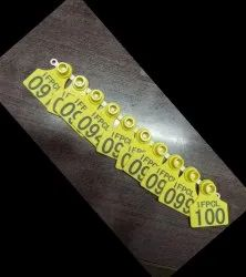 Yellow Plastic Ear Tags, Packaging Type: Packet, Tagging