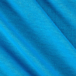 Blue Polyester Jersey Fabric, GSM: 150-200