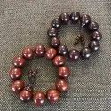 Lobular Red Sandalwood Beads Bracelet