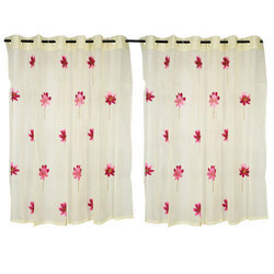Cotton Embroidered Curtain, Size: 6 x 4 feet