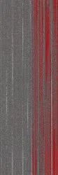 Grey with Red Crossover 03 Carpet Tile, Size: 100 *33.3 cm, Thickness: 3-5.5 mm