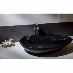 Capstona Boat Black Marble Wash Basin