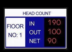 Led Head Count Display Board, Wireless LAN, Shape: Rectangular