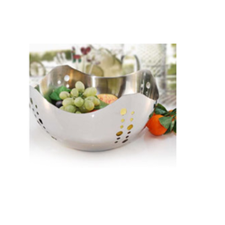 Metal Exports Silver Stainless Steel Fruit Baskets