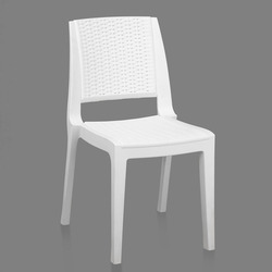 Made In Virgin Polymer White Nilkamal Enamora Chair