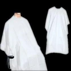 Non woven White Disposable Hair Cutting Apron, Size: Medium