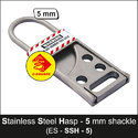 5 Mm Lockout Tagout Stainless Steel Hasp