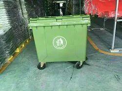 Sintex 660 Ltr 4 Wheeled Industrial Waste Bins - Green (Gbrw 66-04)