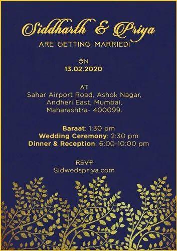 Luxury Wedding Invitation Cards