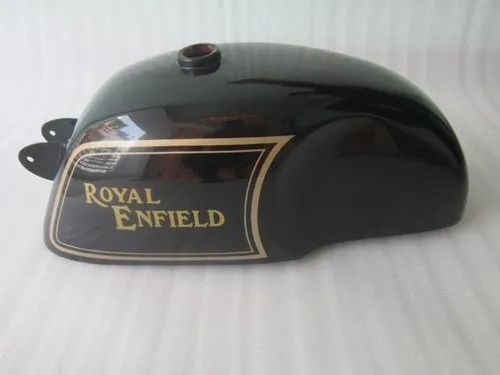 New Royal Enfield Cafe Racer Black Painted 4 Gallon Petrol Tank  (Reproduction)