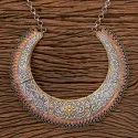 Two Tone Plated Indo Western Trendy Necklace 100249