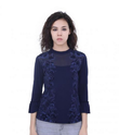 Womens Navy Casual Top