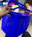 Blue Shopping Hand Basket Plastic, Capacity: 10-15 Liter